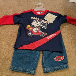 Baby Snoopy racing outfit